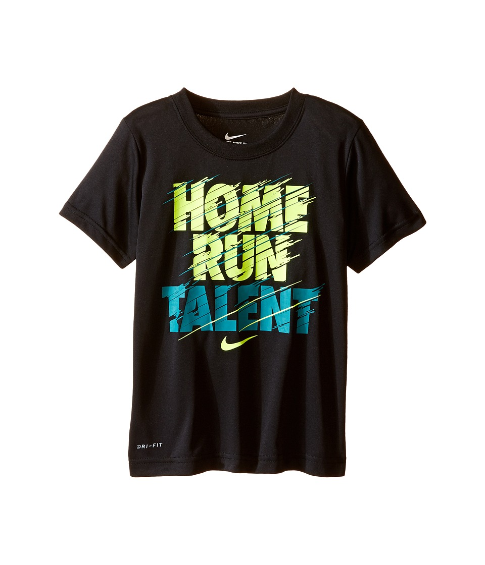 Nike Kids - Home Run Talent Dri-FIT Tee (Little Kids) (Black) Boy's T Shirt