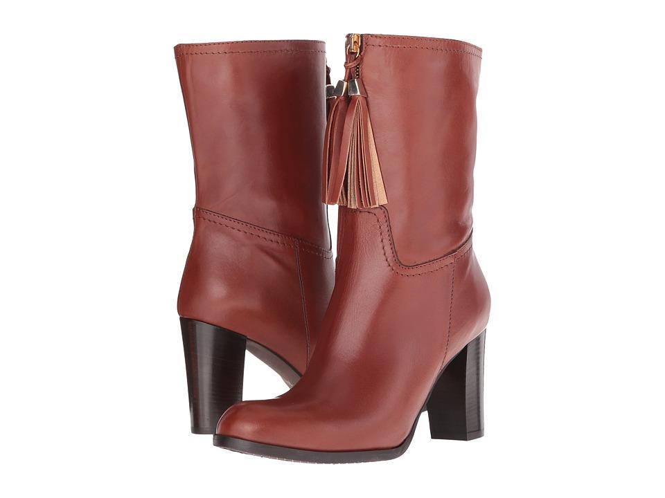 Massimo Matteo Mid Heel Tassel Boot (Cuoio) Women