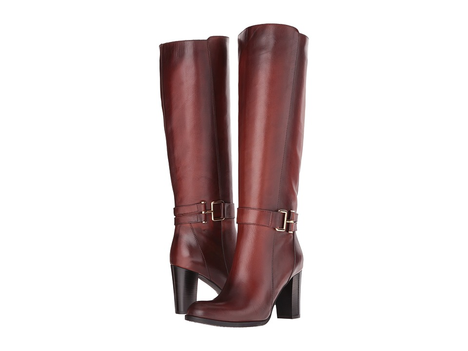 Massimo Matteo - Calf Heel Strap Boot (Cuoio) Women's Boots