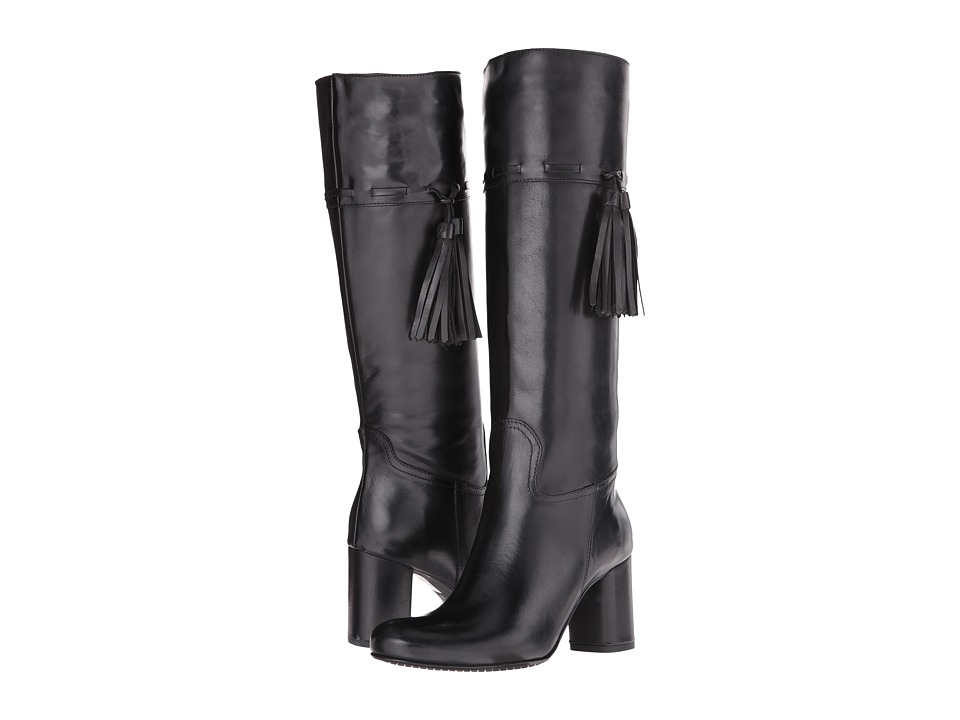 Massimo Matteo - Calf Heel Tassel Boot (Black) Women's Boots