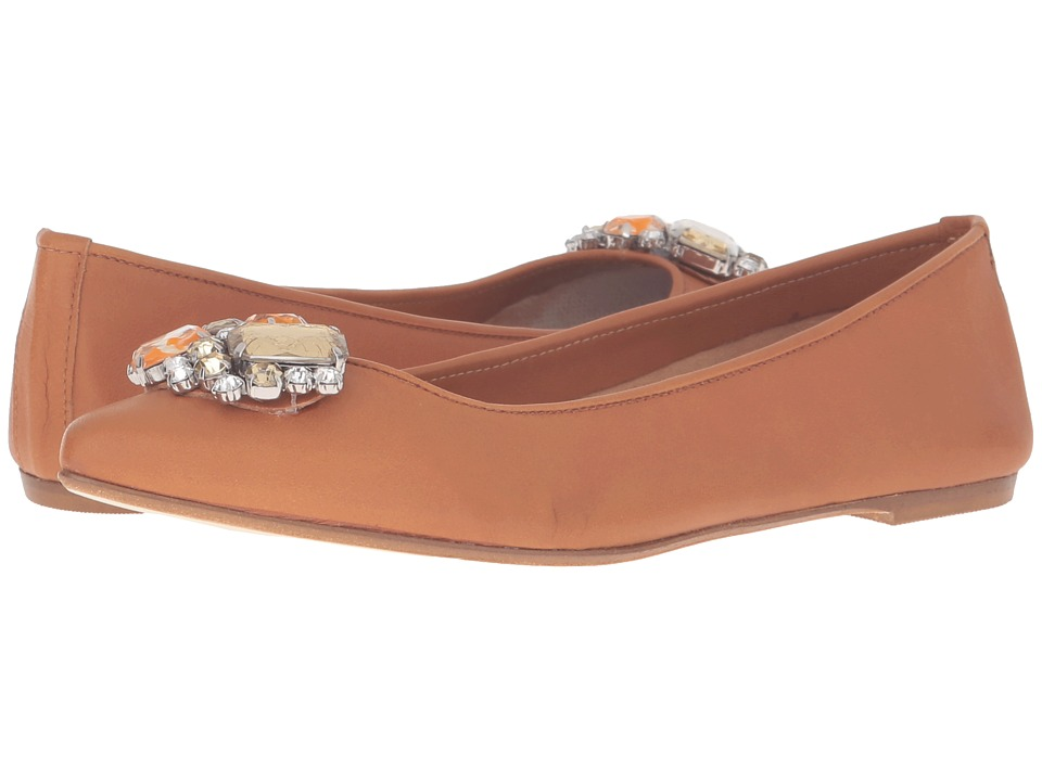 Massimo Matteo - Flat with Ornament (Cuoio) Women's Flat Shoes