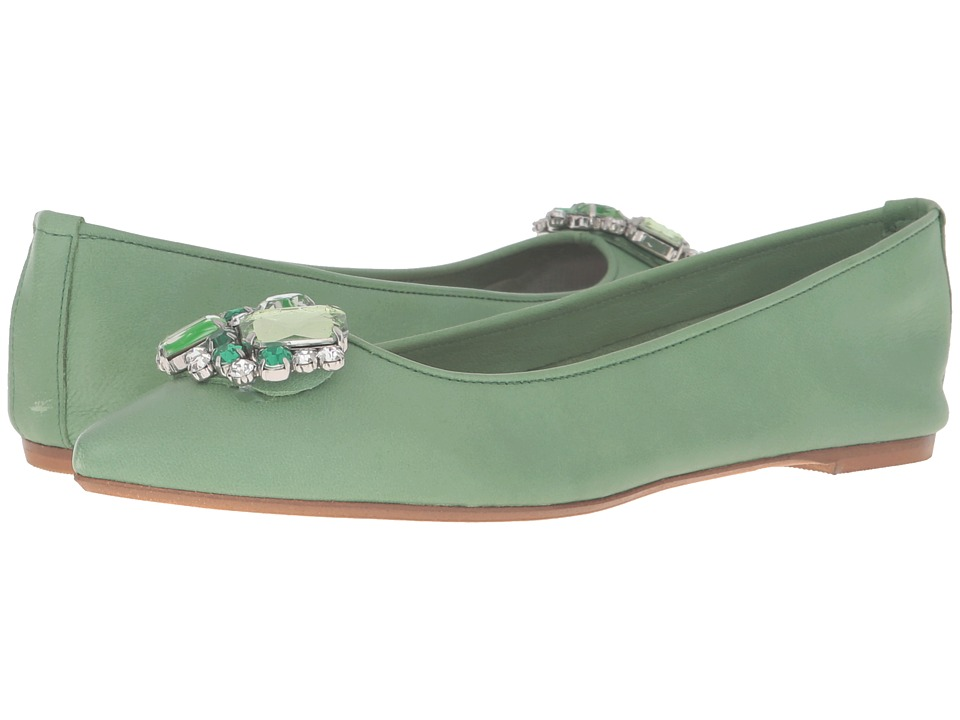 Massimo Matteo - Flat with Ornament (Green) Women's Flat Shoes