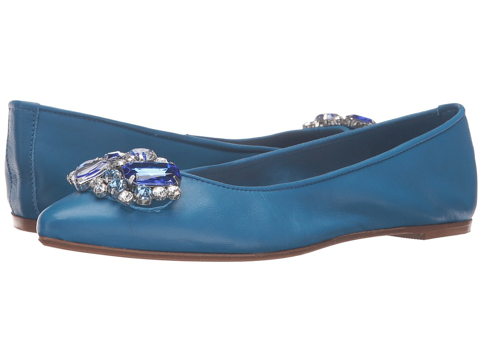 Massimo Matteo - Flat with Ornament (Royal Blue) Women's Flat Shoes