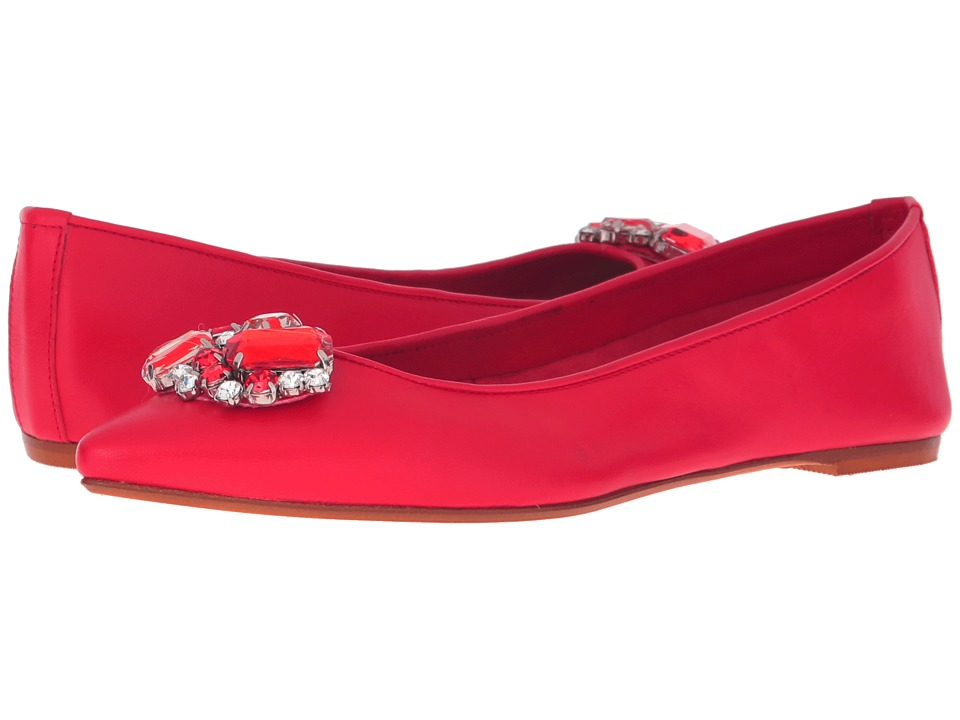 Massimo Matteo - Flat with Ornament (Red) Women's Flat Shoes
