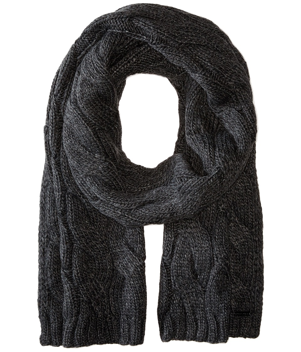 MICHAEL Michael Kors - Cable Muffler (Charcoal) Scarves