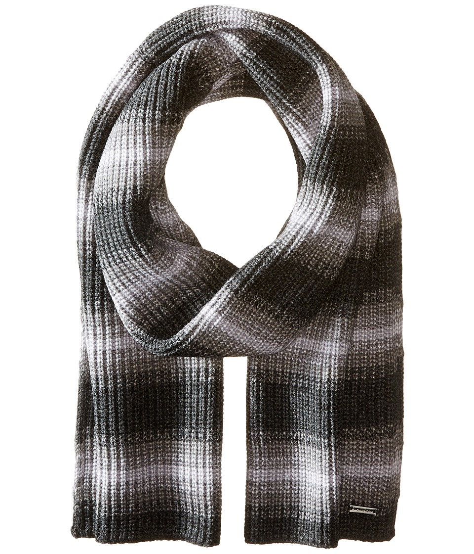 MICHAEL Michael Kors - Marl Stripe Muffler (Charcoal/Ash/Heather) Scarves