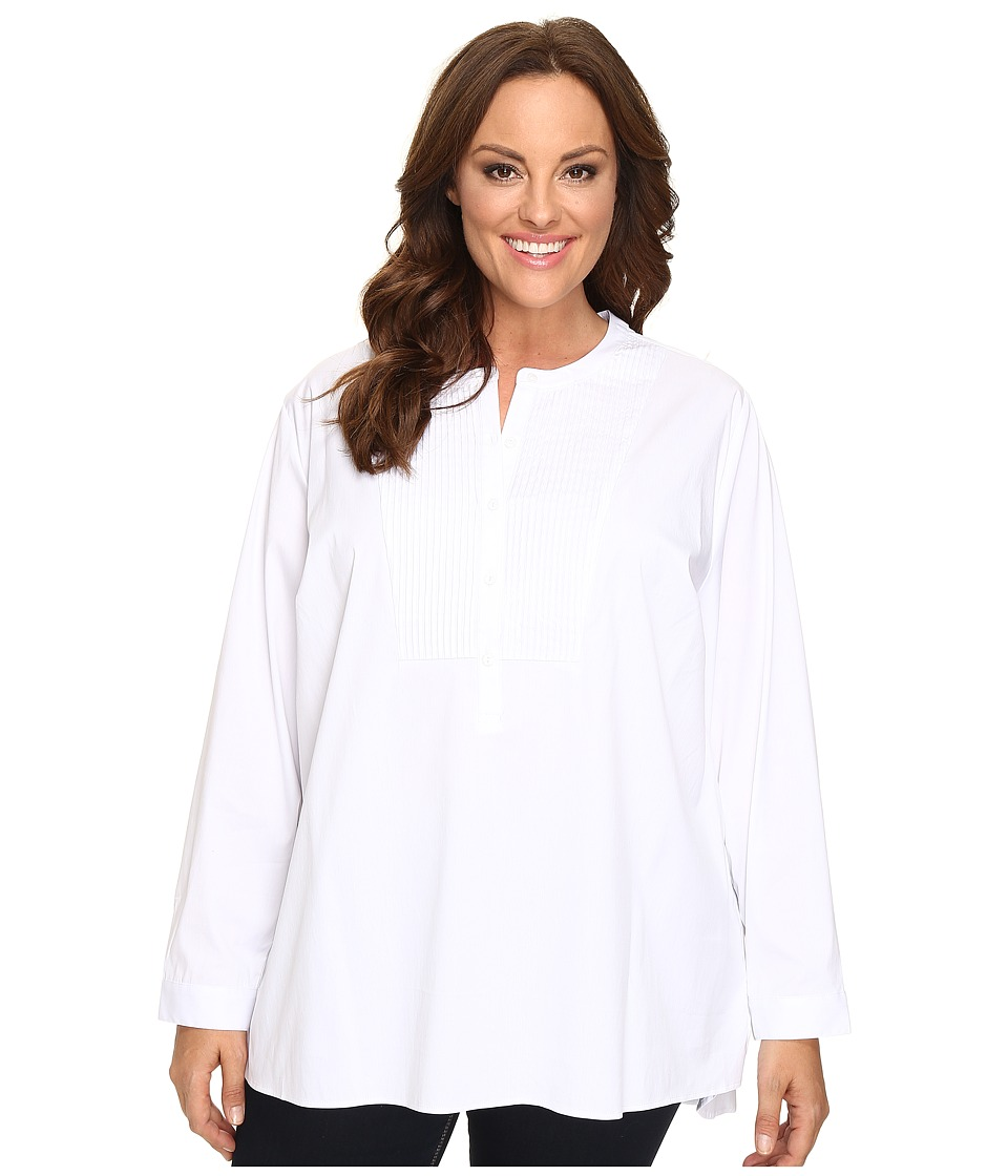 NYDJ Plus Size - Plus Size Crisp Tunic Blouse (Optic White) Women's Blouse