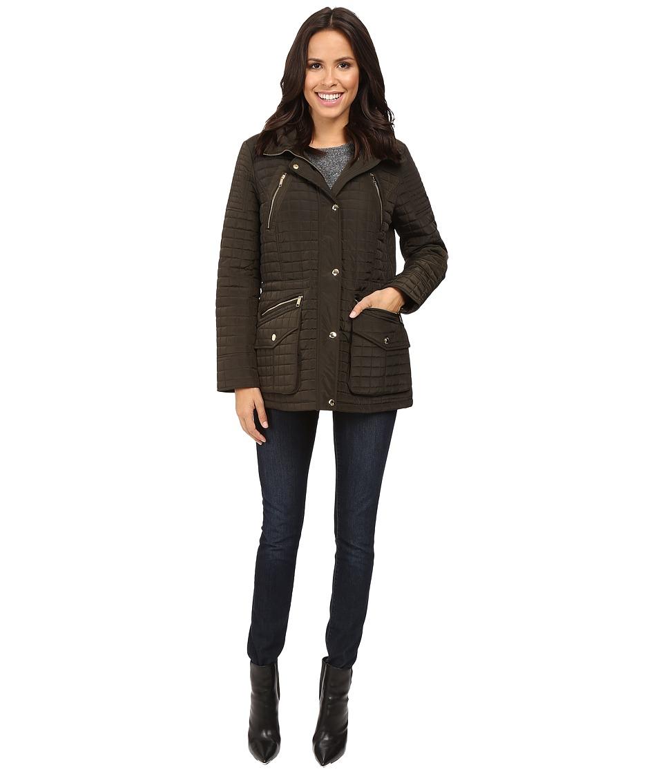 MICHAEL Michael Kors - Box Quilted Jacket M421253T (Dark Moss) Women's Coat