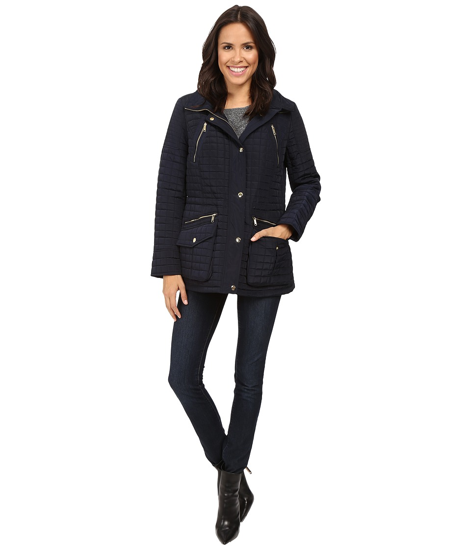 MICHAEL Michael Kors - Box Quilted Jacket M421253T (Navy) Women's Coat