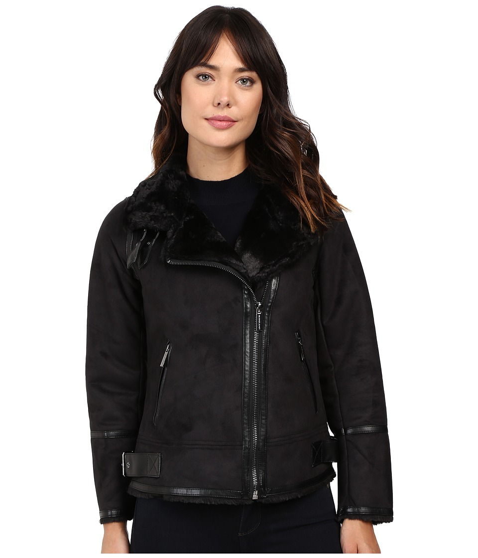 MICHAEL Michael Kors - Faux Shearling M52731T (Black) Women's Coat