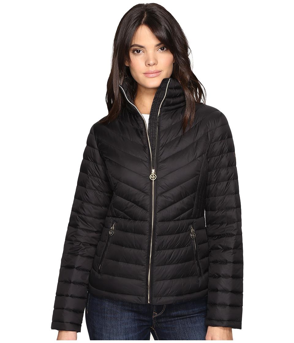 MICHAEL Michael Kors - Packable Down M820638T (Black) Women's Coat
