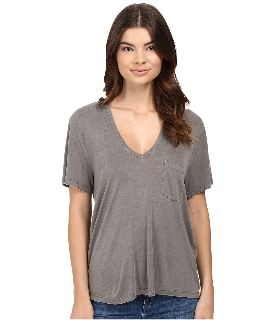 Project Social T - Rylee Pocket V (P. Slate) Women's Short Sleeve Pullover