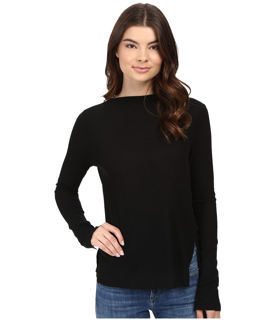Project Social T - Ruby Long Sleeve Boat Neck (Black) Women's Clothing