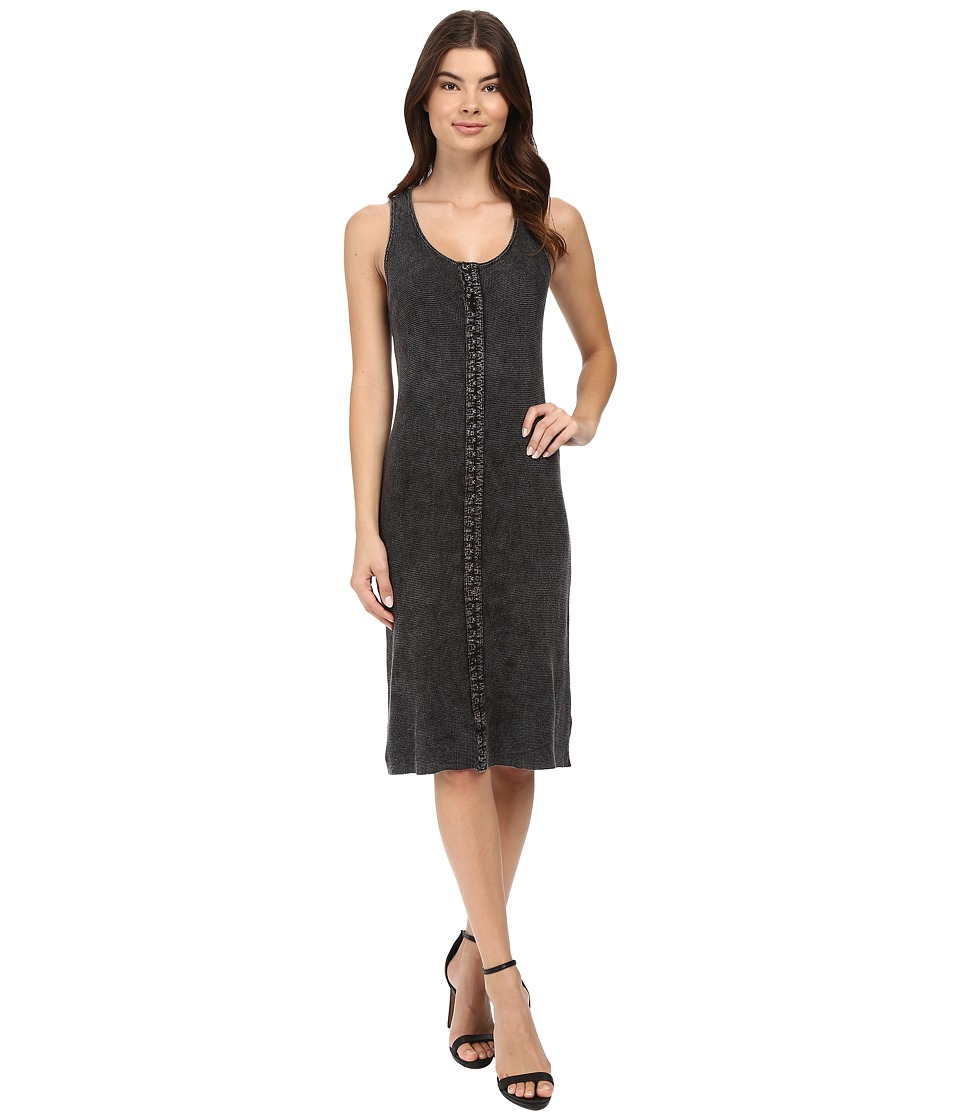 Project Social T - Ella Hook Eye Rib Dress (MW Black) Women's Dress