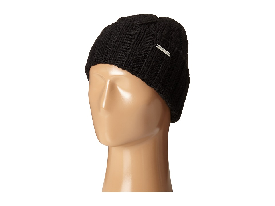 MICHAEL Michael Kors - Classic Hand Knit Cable Cuff Hat (Black) Caps