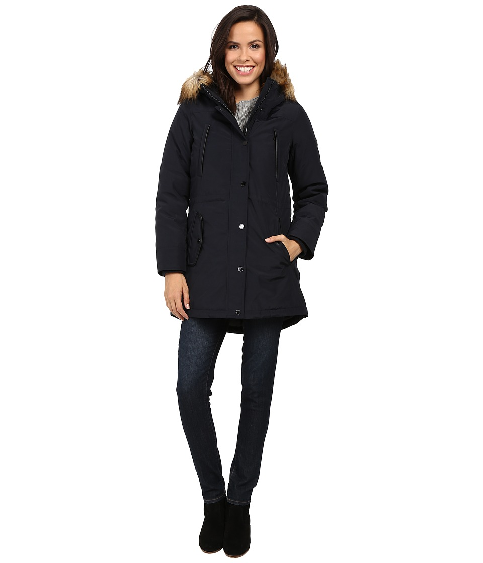 MICHAEL Michael Kors Down w/ Fur Trim Hood M822170T (Navy) Women