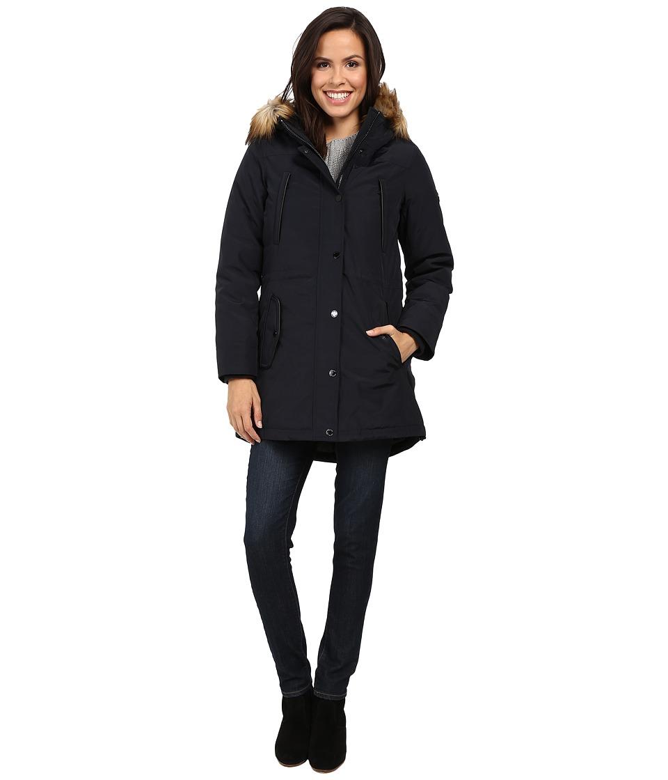 MICHAEL Michael Kors Down w/ Fur Trim Hood M822170T (Navy) Women