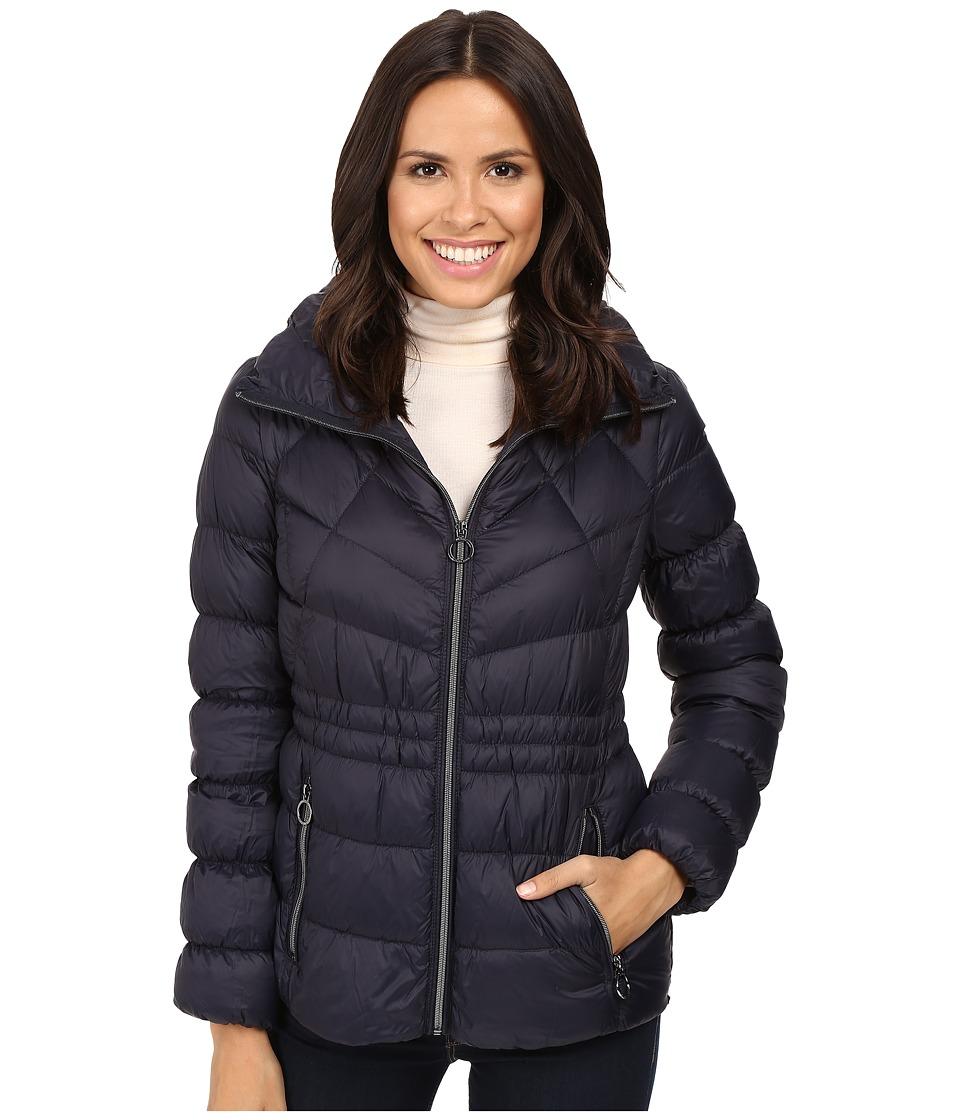 MICHAEL Michael Kors Short Zip Front Packable M822338T (Dark Navy) Women