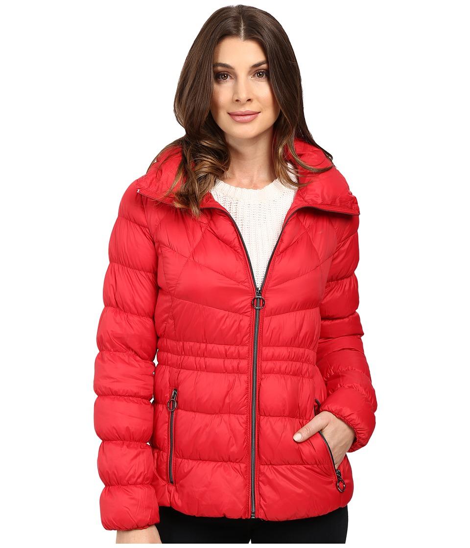 MICHAEL Michael Kors Short Zip Front Packable M822338T (Red) Women