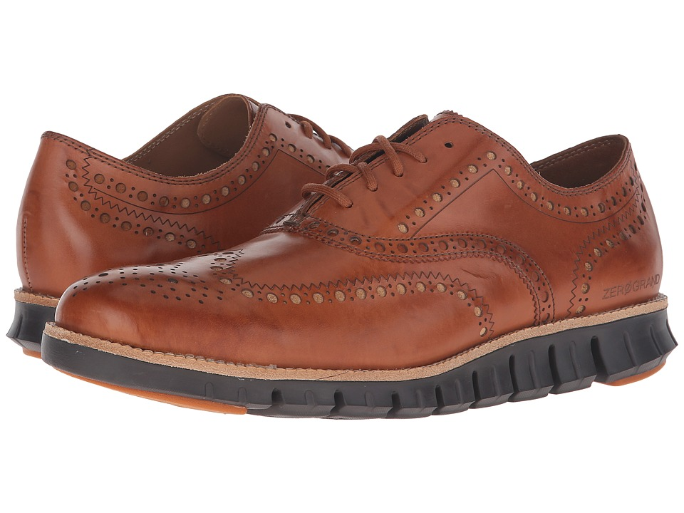 Cole Haan - Zerogrand Wing Ox (British Tan Antique) Men's Lace Up Wing Tip Shoes