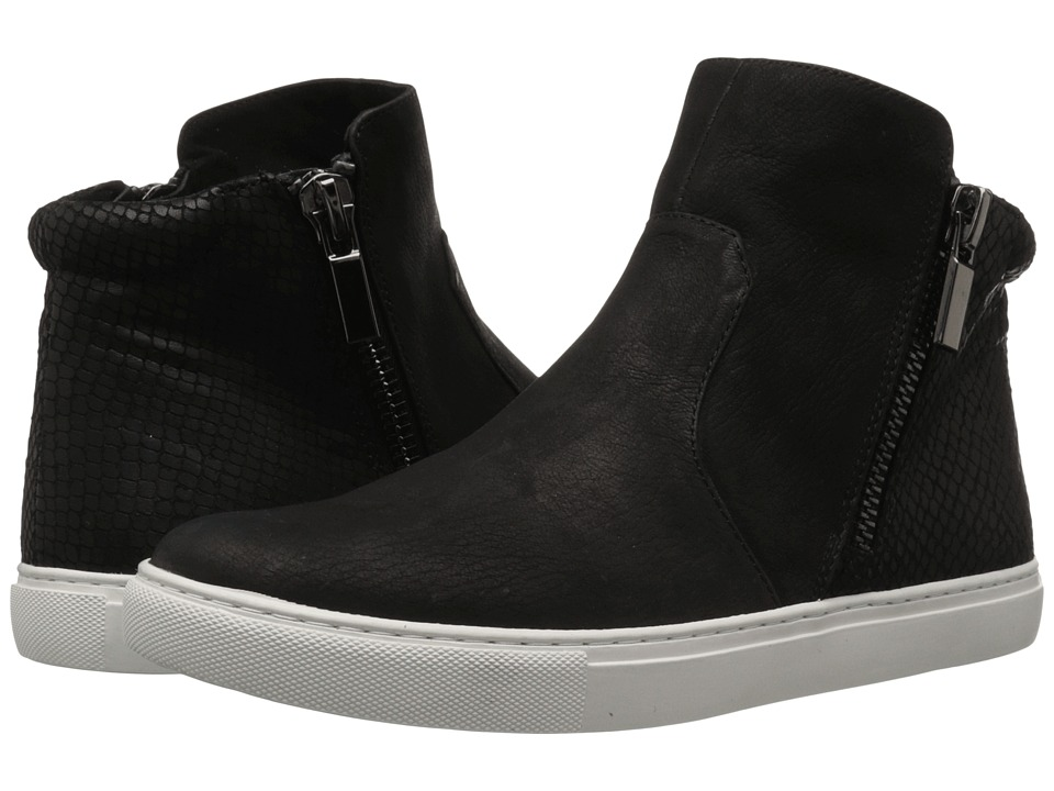 Kenneth Cole New York - Kiera (Black Textured Leather) Women's Zip Boots