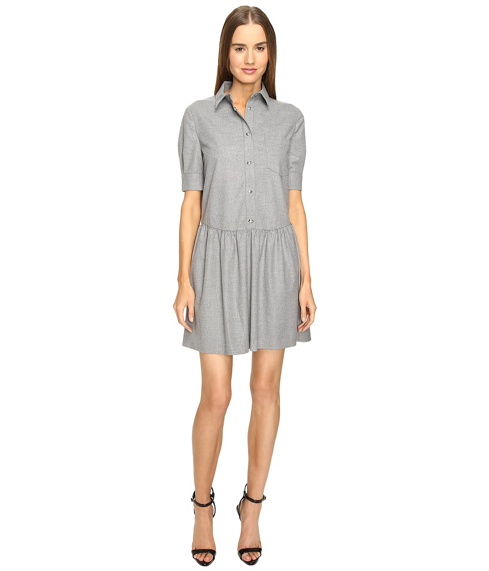 LOVE Moschino - Collared Girly Frock (Grey) Women's Dress
