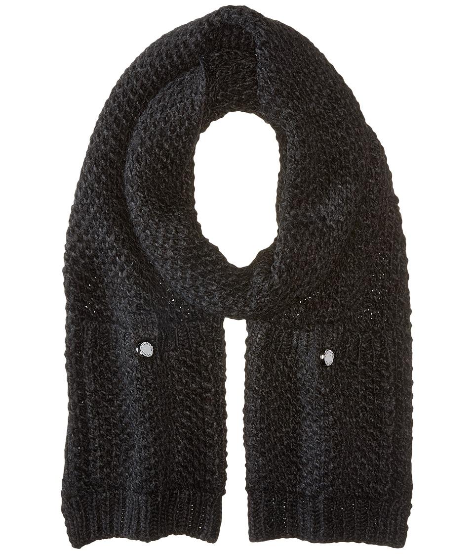 MICHAEL Michael Kors - Tuck Stitch Muffler (Black) Scarves