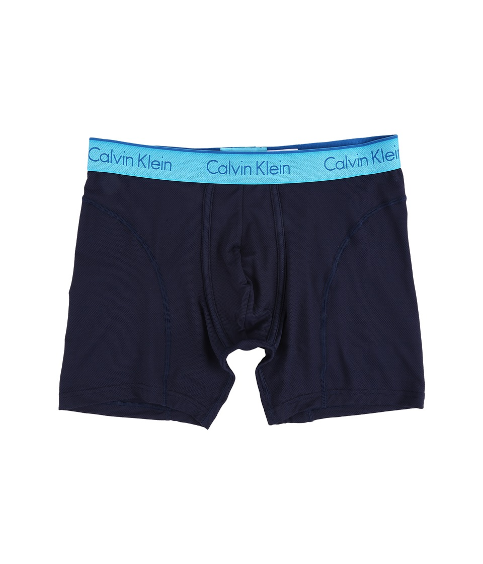 Calvin Klein Underwear - Air Micro Boxer Brief (Blue Shadow Body/Blue Atoll Waistband) Men's Underwear