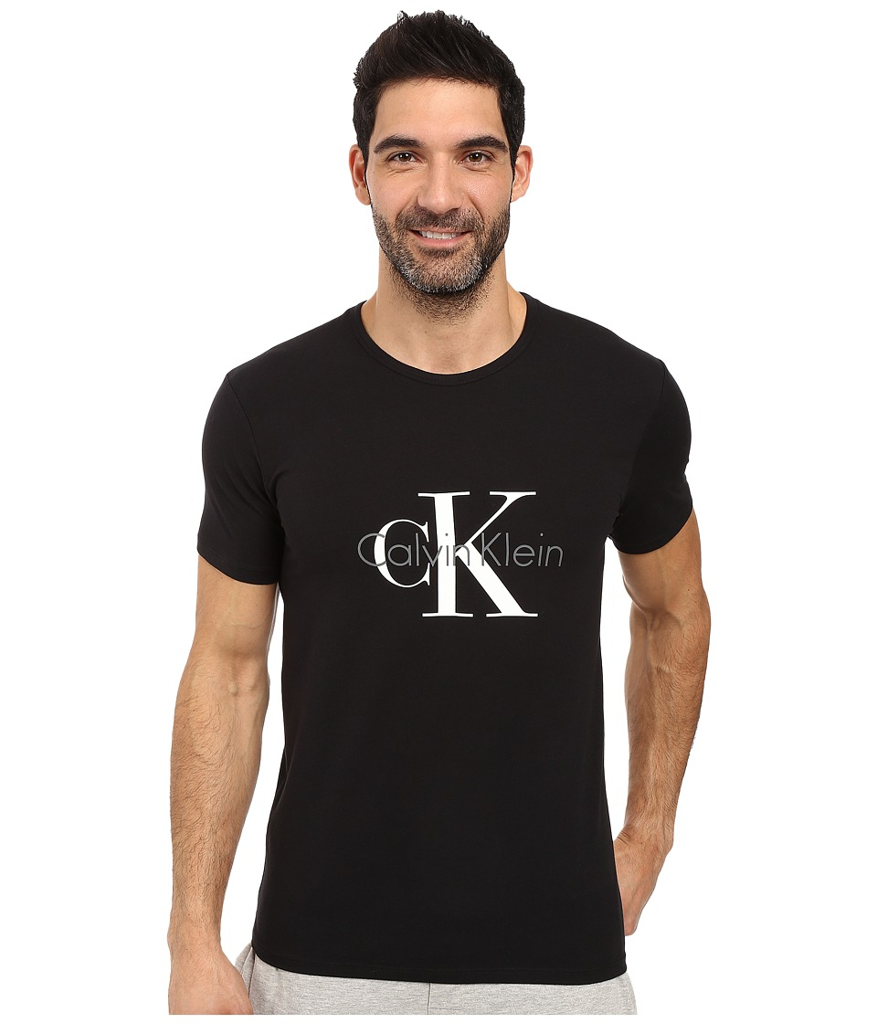 Calvin Klein Underwear - CK Origins Short Sleeve Crew (Black) Men's Underwear