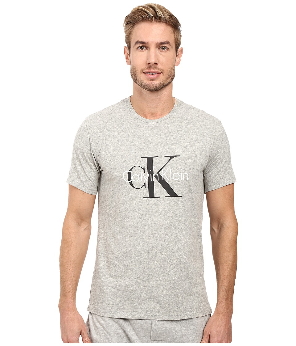 Calvin Klein Underwear - CK Origins Short Sleeve Crew (Heather Grey) Men's Underwear