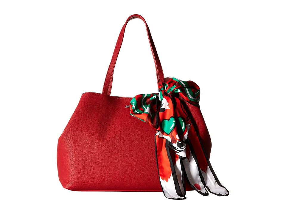 LOVE Moschino - Animal Scarf Tote (Fox) (Red) Tote Handbags