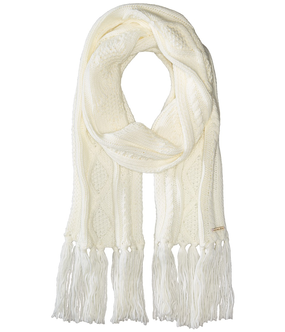 MICHAEL Michael Kors - Classic Hand Knit Cable Muffler (Cream) Scarves