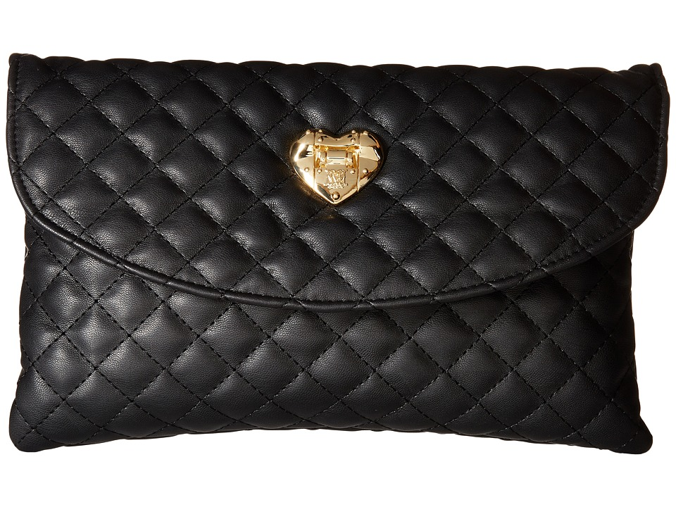 LOVE Moschino - Envelope Clutch (Black) Clutch Handbags
