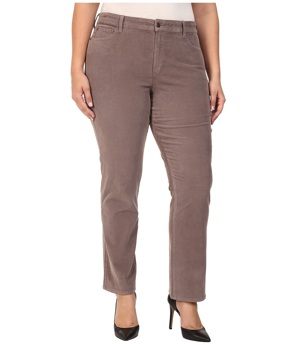 NYDJ Plus Size - Plus Size Marilyn Straight Jeans in Corduroy in Alder (Alder) Women's Jeans