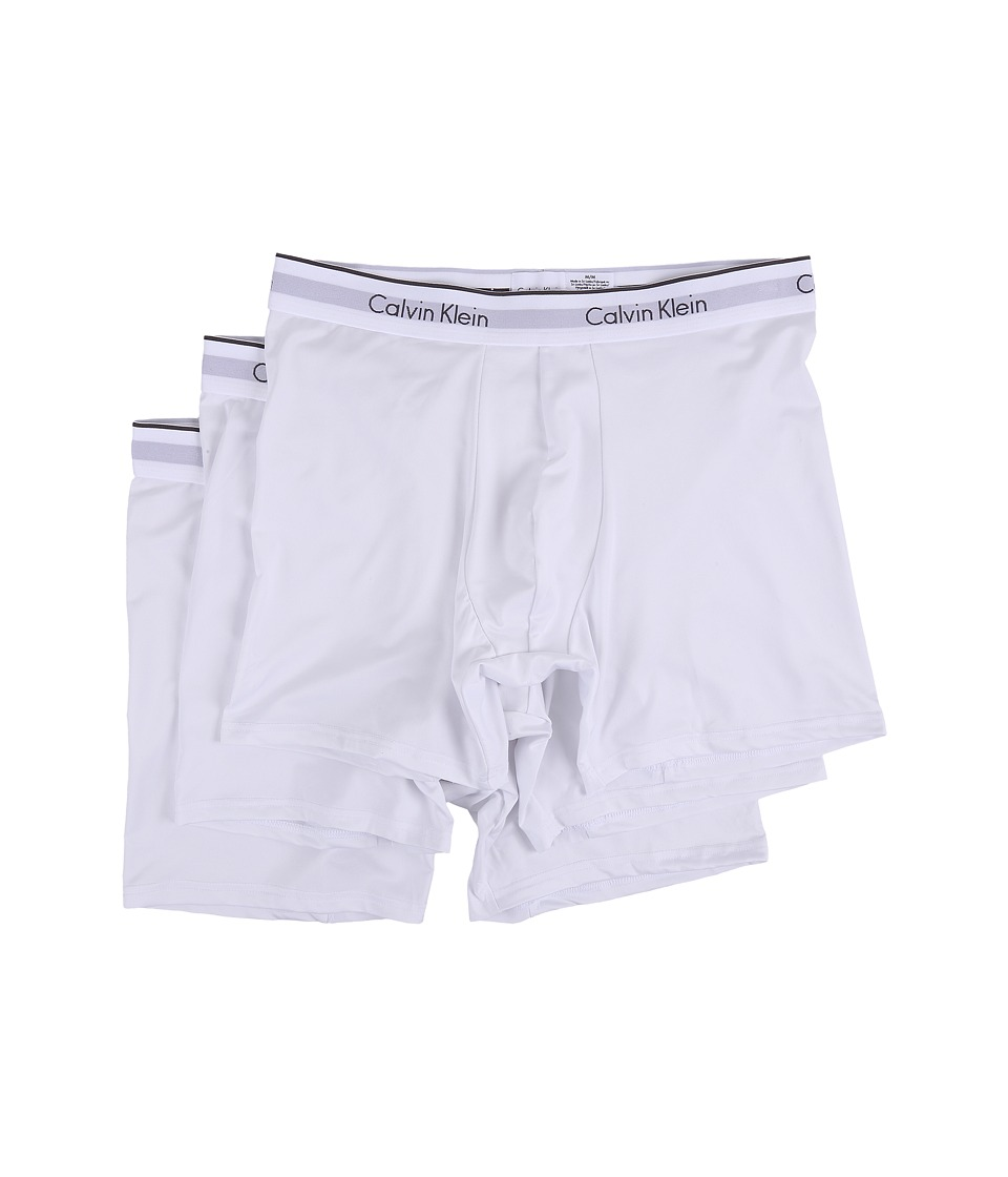 Calvin Klein Underwear - Micro Stretch 3-Pack Boxer Brief (White) Men's Underwear