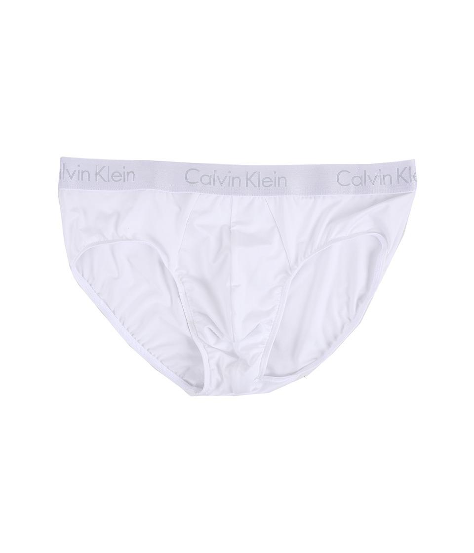 Calvin Klein Underwear - Liquid Stretch Micro Hip Brief (White) Men's Underwear