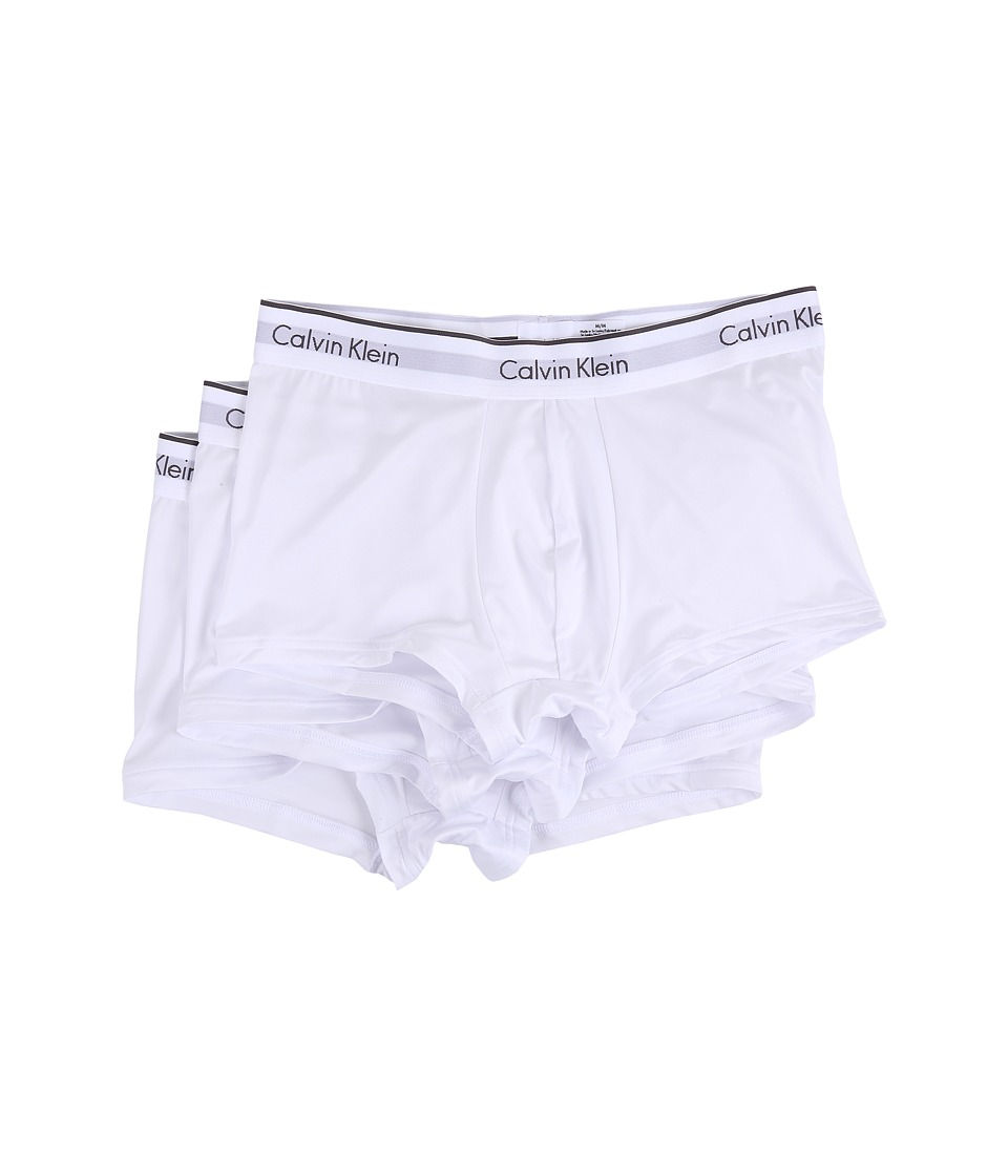 Calvin Klein Underwear - Micro Stretch 3-Pack Low Rise Trunk (White) Men's Underwear