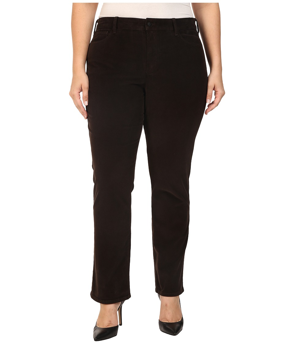 NYDJ Plus Size - Plus Size Marilyn Straight Jeans in Corduroy in Molasses (Molasses) Women's Jeans