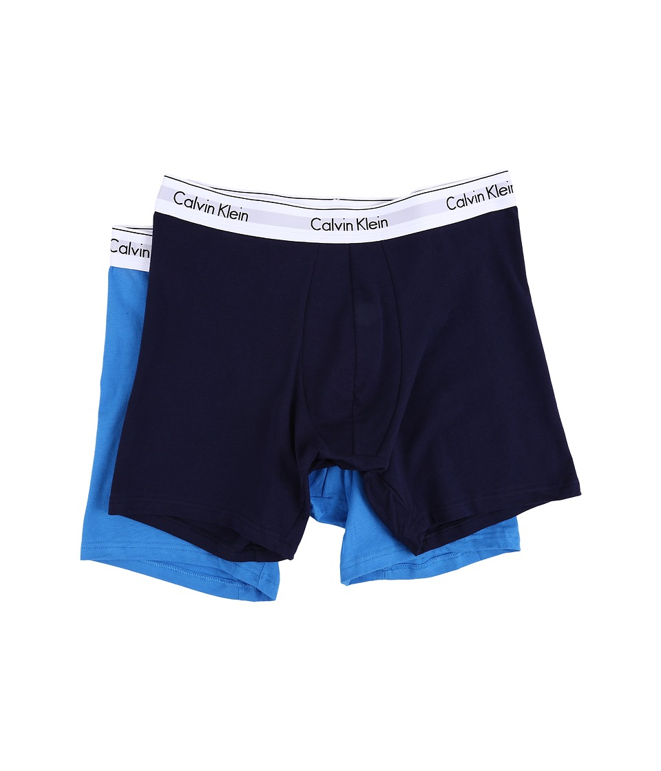 Calvin Klein Underwear - Modern Cotton Stretch Boxer Brief (Lynx Blue/Maya Blue) Men's Underwear