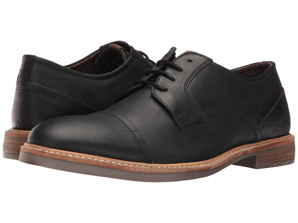 Ben Sherman - Luke Cap Toe (Black Oiled) Men's Shoes