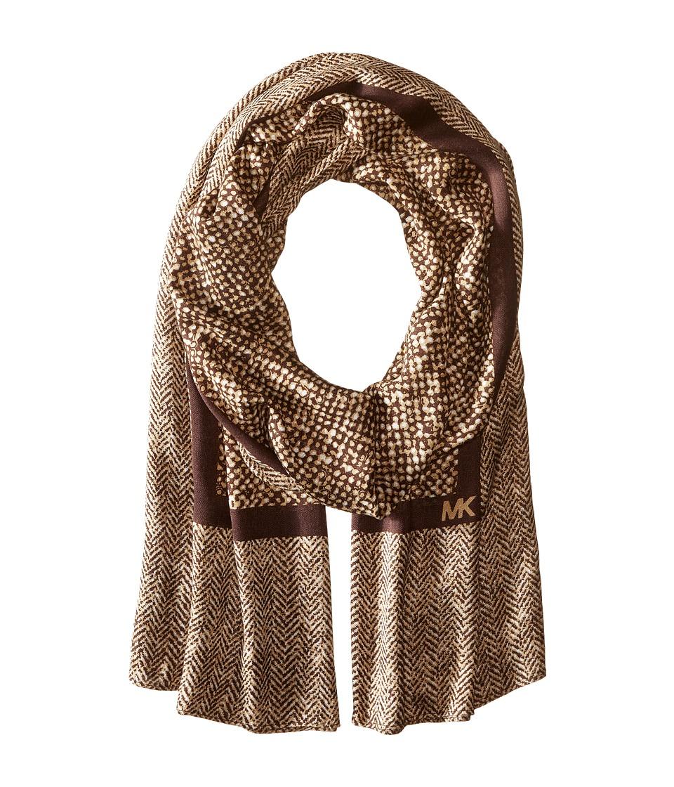 MICHAEL Michael Kors - Norfold Desert Tweed Oblong (Camel Combo) Scarves