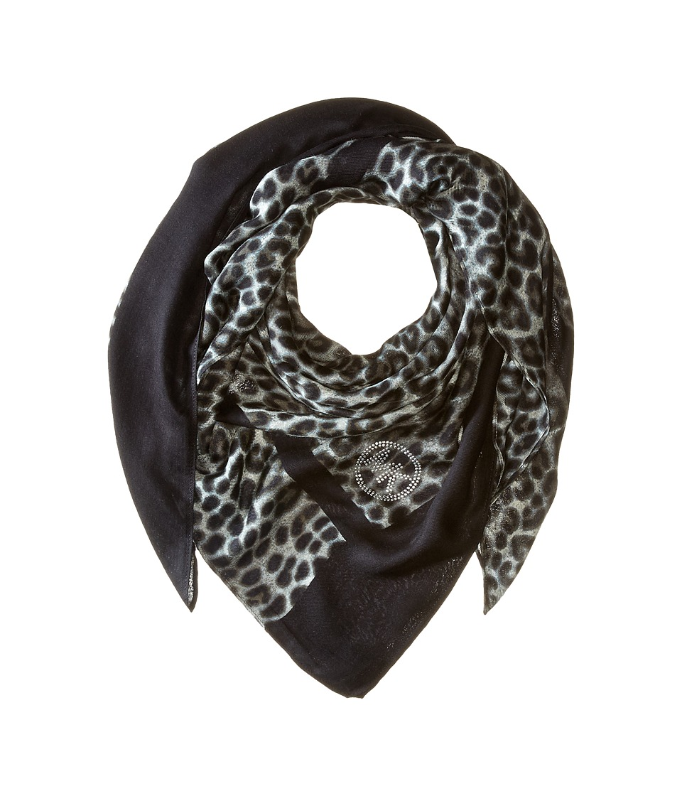 MICHAEL Michael Kors - Spotted Cheetah Square (Black Combo) Scarves