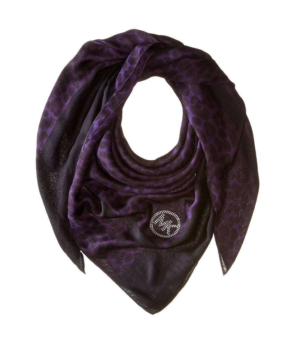 MICHAEL Michael Kors - Spotted Cheetah Square (Iris Combo) Scarves