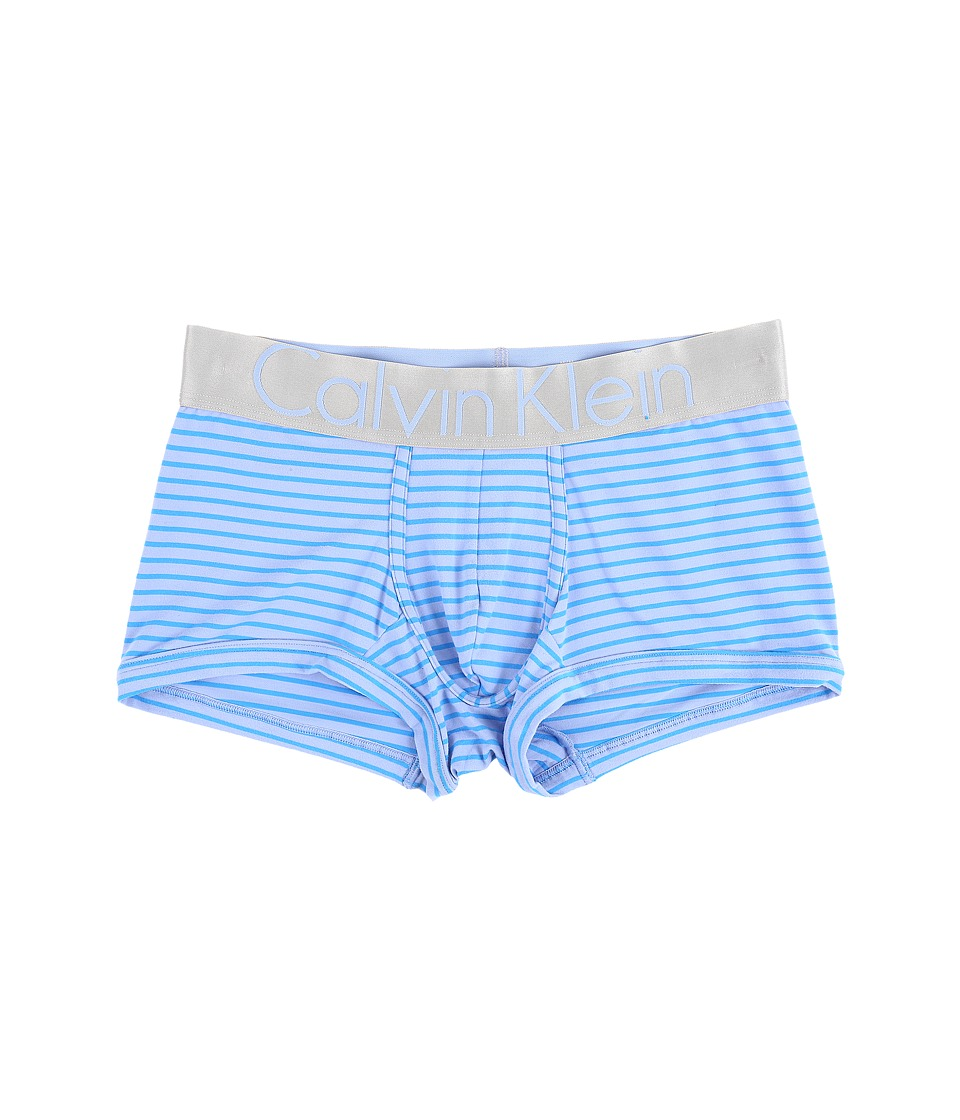 Calvin Klein Underwear - Steel Micro Low Rise Trunk U2716 (Star Ferry/Maya Blue Wide Stripe) Men's Underwear