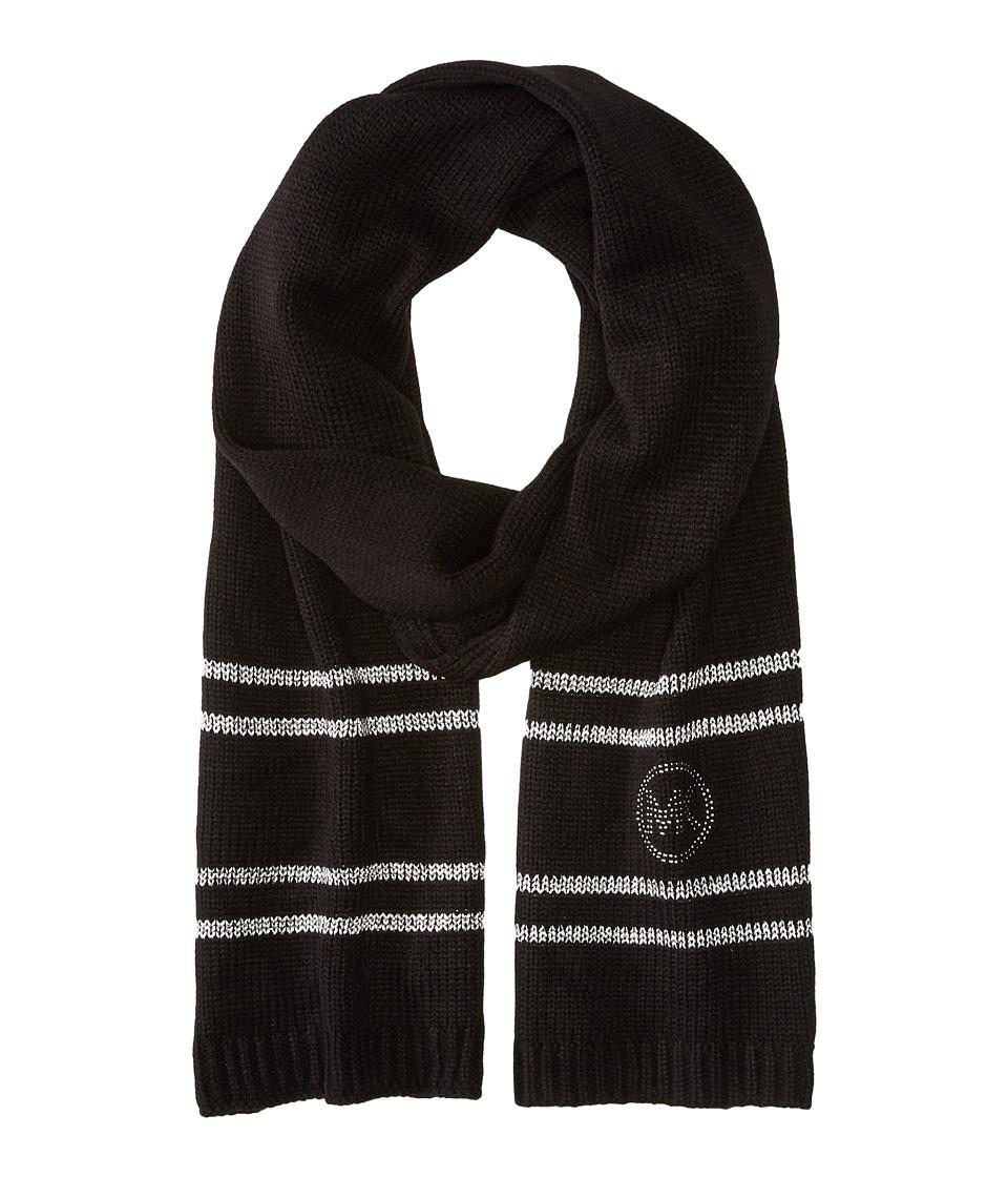 MICHAEL Michael Kors - Logo Studded Muffler (Black/Silver) Scarves