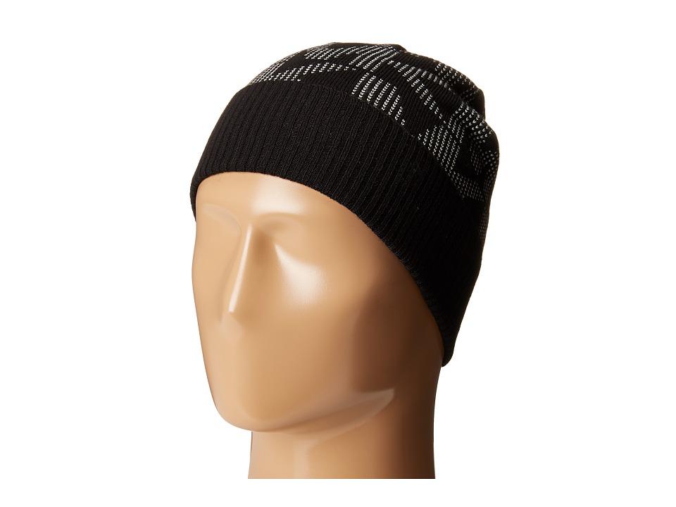 MICHAEL Michael Kors - Pin Dot Logo Jacquard Cuff Hat (Black/Cream) Caps