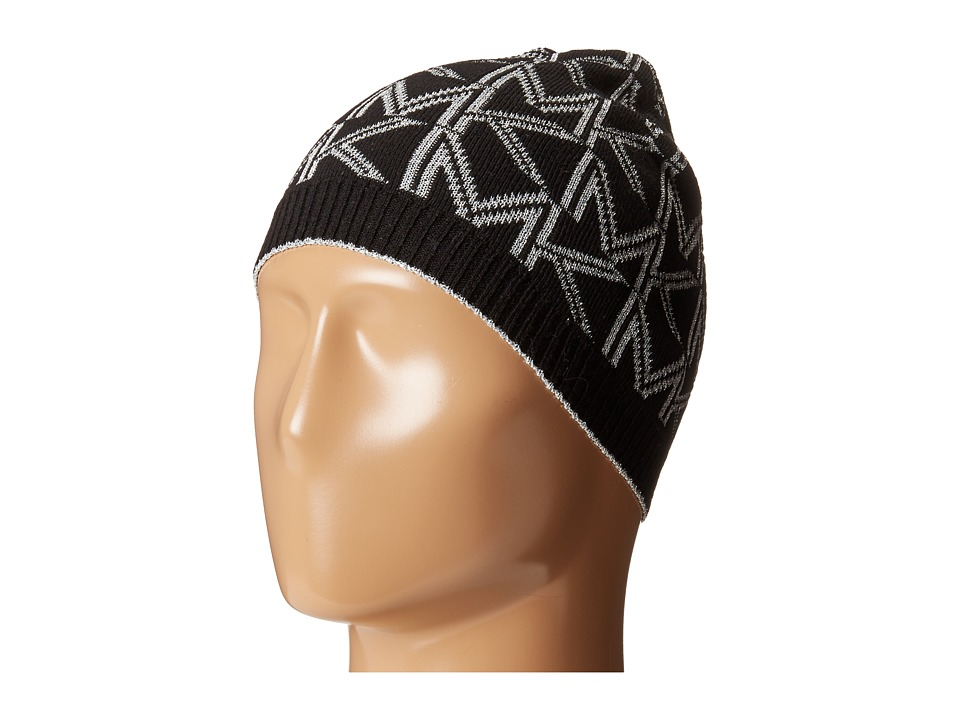 MICHAEL Michael Kors - Beanie with Metallic Logo (Black/Silver) Beanies