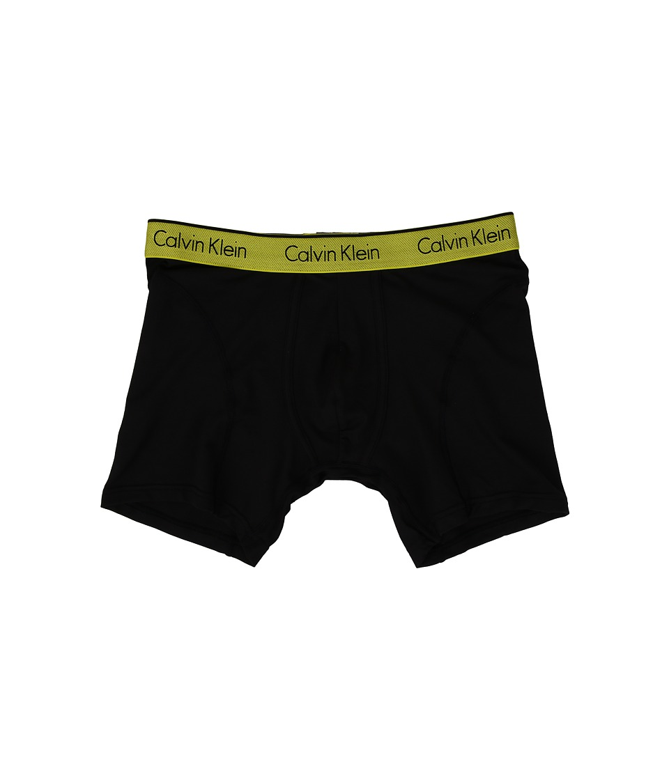 Calvin Klein Underwear - Air Micro Boxer Brief (Black Body/Winter Chartreuse Waistband) Men's Underwear