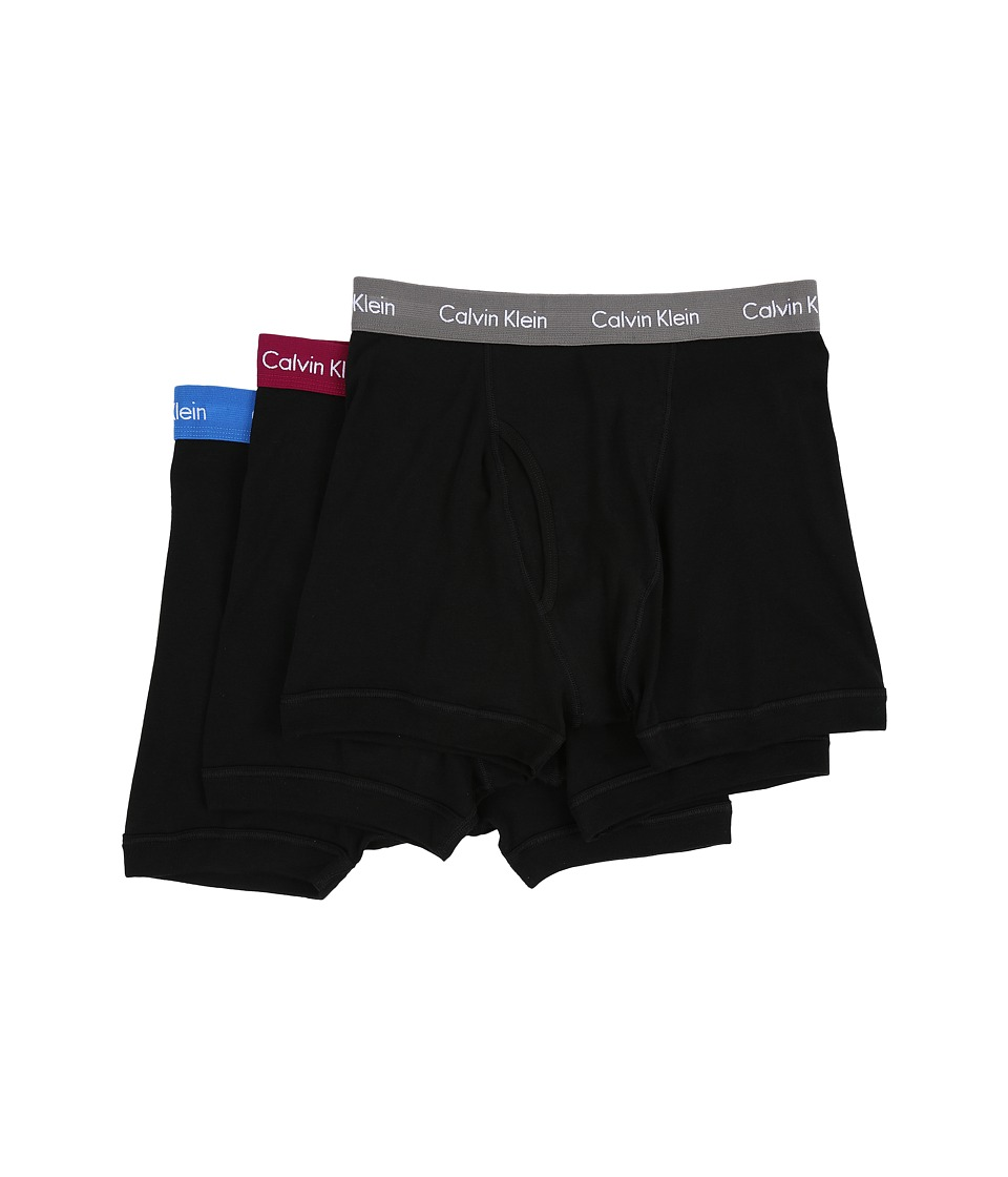 Calvin Klein Underwear - Cotton Classic Boxer Brief 3-Pack NU3019 (Black Body/Shy View/Lust/Grey Sky Waistband) Men's Underwear