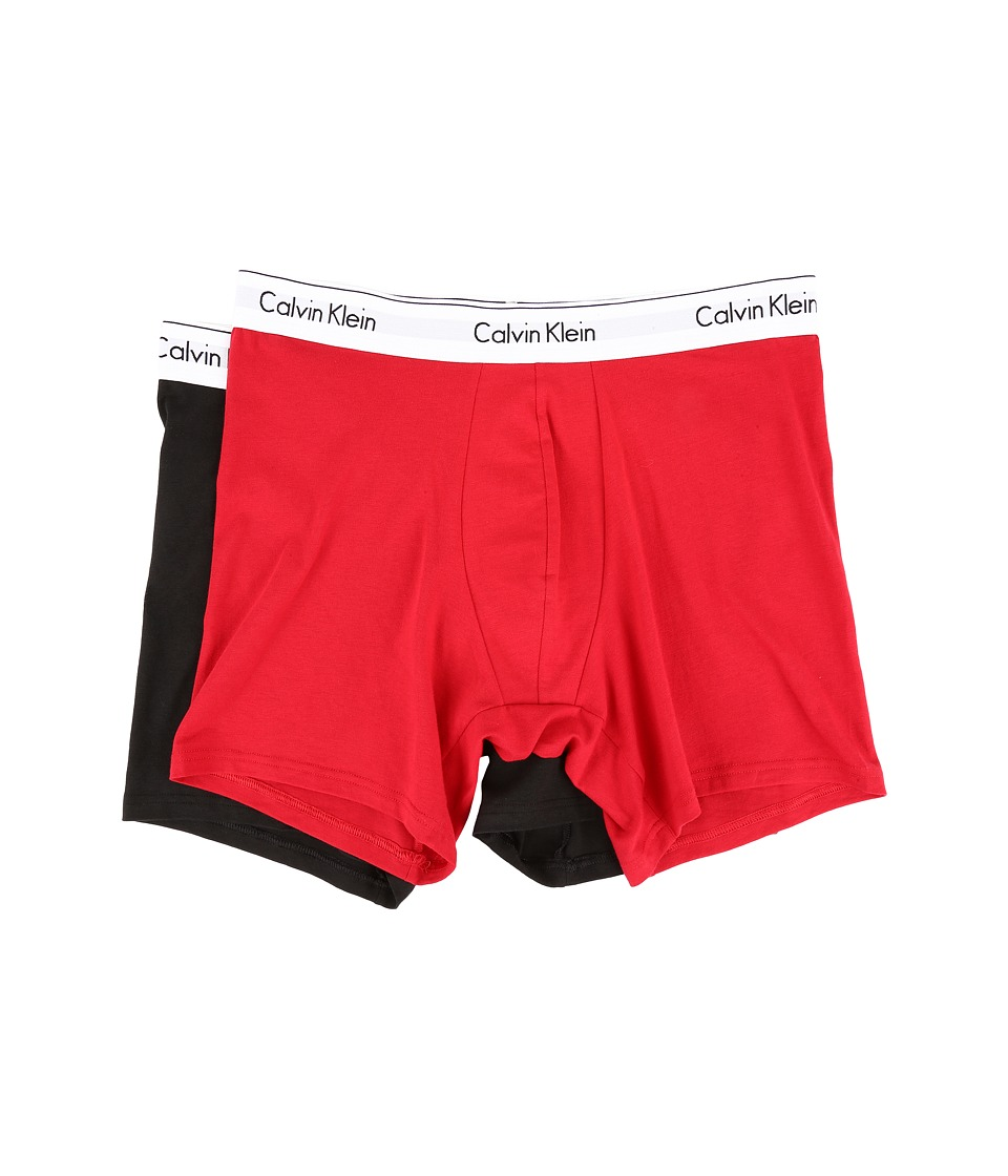 Calvin Klein Underwear - Modern Cotton Stretch Boxer Brief (Regal Red/Black) Men's Underwear